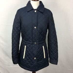 Nautica Navy Blue Quilted Puffer Jacket sz M